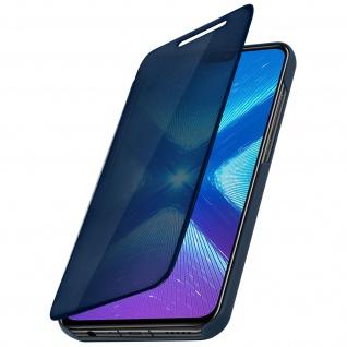 Honor 8X, Honor View 10 Lite Flip Cover mit Spiegeleffekt & Standfunktion - Blau