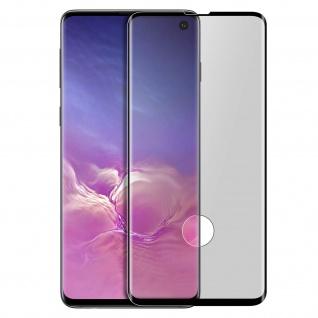 Premium Panzerglas Schutzfolie für Samsung Galaxy S10 - Rand Schwarz
