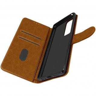 Klappetui mit Geldbörse, Kunstlederhülle für Samsung Galaxy A72 ? Braun