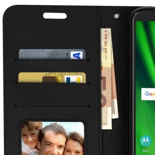Flip Stand Cover Brieftasche & Standfunktion Motorola Moto G6 Play/E5 - Schwarz - Vorschau 3