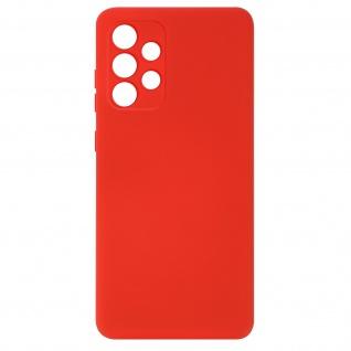 Halbsteife Silikon Handyhülle für Samsung Galaxy A32, Soft Touch ? Rot