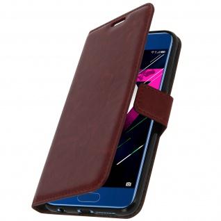 Flip Cover Stand Case Brieftasche & Standfunktion für Honor 9 - Schwarz