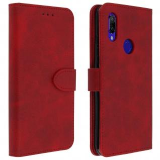 Buffalo Kunstlederetui Xiaomi Redmi 7, Standfunktion & Kartenfächer - Rot