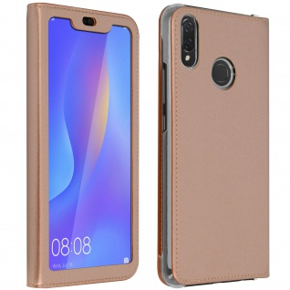 Smart View Flip Cover, Klappetui für Huawei P Smart Plus - Rosegold