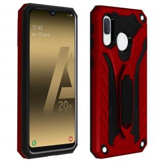 Samsung Galaxy A20e Hybrid stoßfeste Schutzhülle mit Ständer - Rot