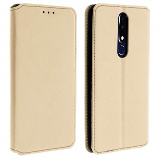 Kunstleder Cover Classic Edition Nokia 3.1 Plus - Gold