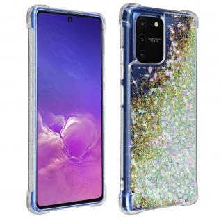 Flexible Samsung Galaxy S10 Lite Silikon Bumper Hülle, Glitter Design - Rosa