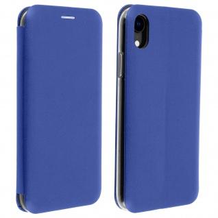 Apple iPhone XR Flip Cover mit Kartenschlitz & Standfunktion - Blau