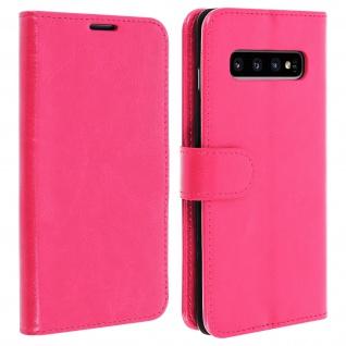 Flip Stand Cover Brieftasche & Standfunktion für Samsung Galaxy S10 - Rosa
