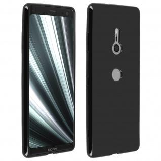Flexible kratzfeste Schutzhülle aus Silikon für Sony Xperia XZ3 - Schwarz - Vorschau 1