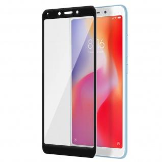 Displayschutzfolie aus gehärtetem Glas für Xiaomi Redmi 6/6A - 3D - Rand Schwarz
