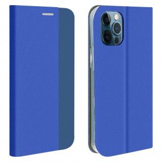 Soft Touch Stoffhülle mit Standfunktion für Apple iPhone 12 / 12 Pro ? Blau