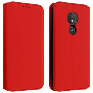 Kunstleder Cover Classic Edition Motorola Moto G7 Power - Rot