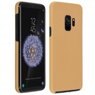Schutzhülle für Samsung Galaxy S9, Vorder- + Rückseite Polycarbonat - Gold