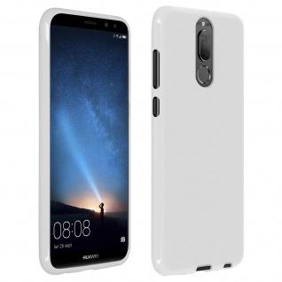 Flexible stoßfeste Schutzhülle aus Silikon für Huawei Mate 10 Lite - Weiß