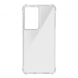 Akashi Samsung Galaxy S21 Ultra Silikon Bumper Hülle, stoßfest - Transparent