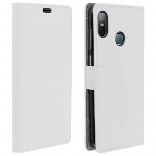 HTC U12 Life Flip-Cover mit Kartenfächern & Standfunktion - Weiß