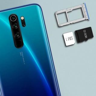 1x SIM + 1x Micro-SD Kartenhalter Ersatzteil für Xiaomi Redmi Note 8 Pro - Blau - Vorschau 3