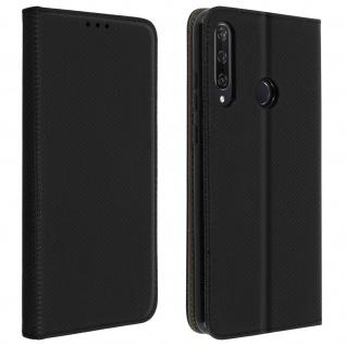Wallet Cover, Klapphülle für Huawei Y6p, Kartenfach und Ständer ? Schwarz