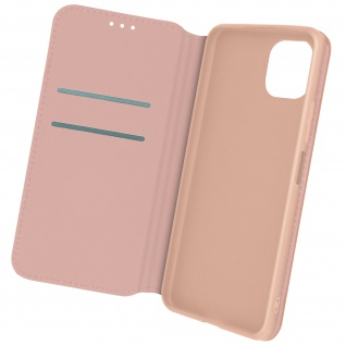 Kunstleder Cover Classic Edition, Klappetui für Samsung A22 5G ? Rosegold