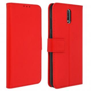 Nokia 2.3 Flip-Cover mit Kartenfächern & Standfunktion - Rot
