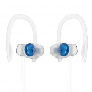 Sport Running Kopfhörer mit Ohrbügel, 3.5mm Klinkenkabel, LinQ ? Dunkelblau/Weiß