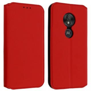 Kunstleder Cover Classic Edition Motorola Moto G7 Play - Rot