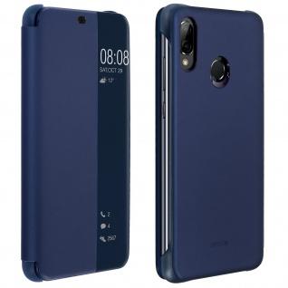 Original Huawei Flip Cover Huawei P20Lite durchsichtige Frontklappe - Dunkelblau