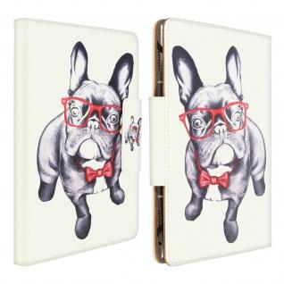 Universal Klappetui für 10/11'' Tablets, Kartenfächer & Standfunktion - Weiß