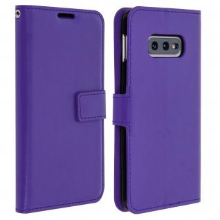 Flip Stand Cover Brieftasche & Standfunktion für Samsung Galaxy S10e - Violett