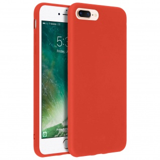 Forcell iPhone 7 Plus/ 8 Plus Soft Touch Silikonhülle, soft case ? Rot