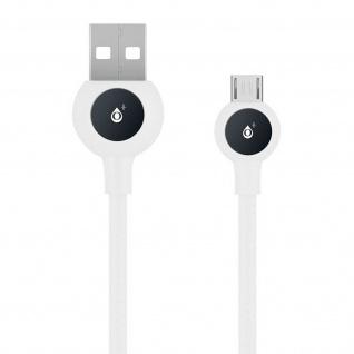 Micro-USB / USB Nylon Kabel, Lade- & Synchronisationskabel, 2A - Weiß