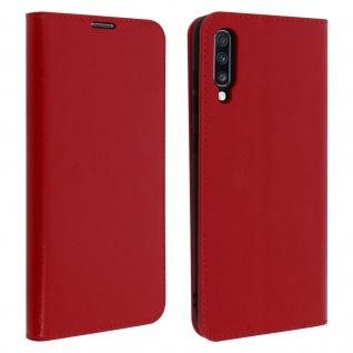Business Leder Cover, Schutzhülle mit Geldbörse Samsung Galaxy A70 - Rot
