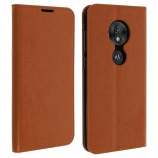 Business Leder Cover, Schutzhülle mit Geldbörse Motorola Moto G7Play - Hellbraun