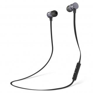 Bluetooth magnetische in-ear Kopfhörer, Fernbedienung + Mikrofon - Schwarz