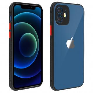 Apple iPhone 12 Mini Schutzhülle aus Polycarbonat, Bumper aus Silikon - Schwarz