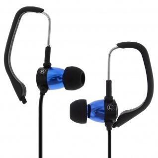 Forever - Sport in-ear Kopfhörer mit Ohrbügeln Freisprechanlage - Blau