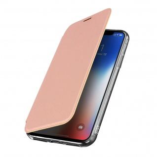 Spiegel Hülle, dünne Klapphülle für Apple iPhone X , Apple iPhone XS - Rosegold