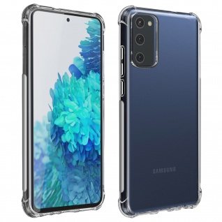 Akashi Samsung Galaxy S20 FE Silikon Bumper Hülle, stoßfest - Transparent