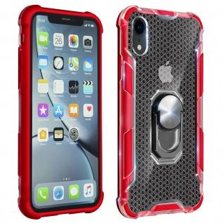 Hybrid Handyhülle mit Ring Halterung für Apple iPhone XR - Rot