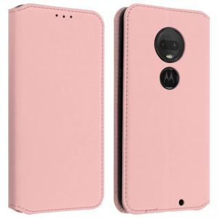 Kunstleder Cover Classic Edition Motorola Moto G7/G7 Plus ? Rosegold