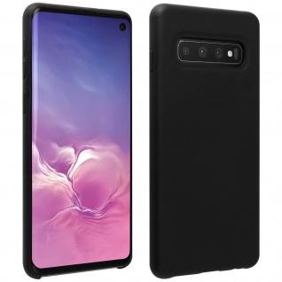 Halbsteife Silikon Handyhülle Samsung Galaxy S10, Soft Touch - Schwarz