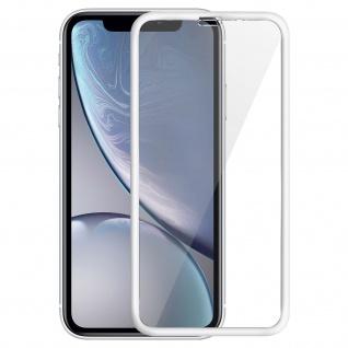 Displayschutzfolie aus gehärtetem Glas für Apple iPhone XR, 0.33mm Folie - Weiß