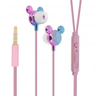 Disney in-ear Kopfhörer mit Fernbedienung, Mickey Maus 3D Design - Violett