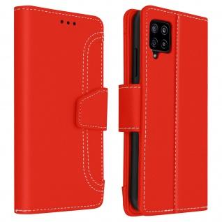 Samsung Galaxy A42 5G Klapphülle mit Portemonnaie - Rot