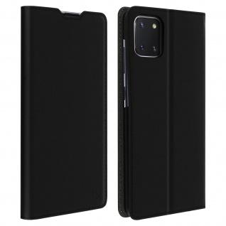 Muvit Flip Wallet Cover, Handyhülle für Samsung Galaxy Note 10 Lite - Schwarz