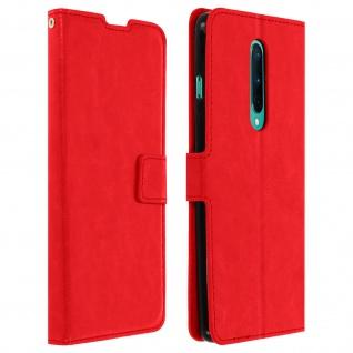 Flip Stand Case Brieftasche & Standfunktion für OnePlus 8 - Rot