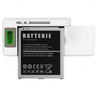 Universal Ladegerät für Smartphones, mit LED-Anzeige + USB Anschluss - Weiß
