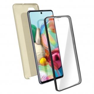 Schutzhülle für Samsung Galaxy A71, Vorder- + Rückseite ? Gold