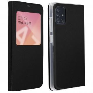 S-View Flip Cover mit Sichtfenster & Kartenfach für Samsung Galaxy A71 â€? Schwarz